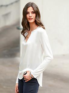 LIEBLINGSSTÜCK - Le T-shirt-chemisier en laine vierge