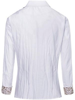 Just White - Le chemisier imprimé dentelle