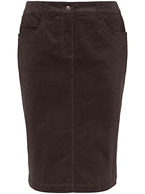 Peter Hahn - La jupe en velours côtelé