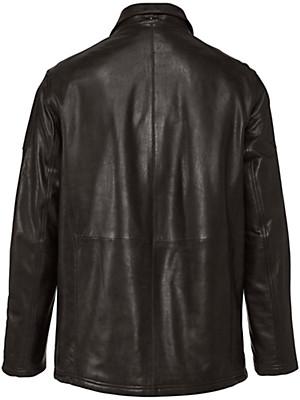 peter hahn la veste en cuir marron. Black Bedroom Furniture Sets. Home Design Ideas