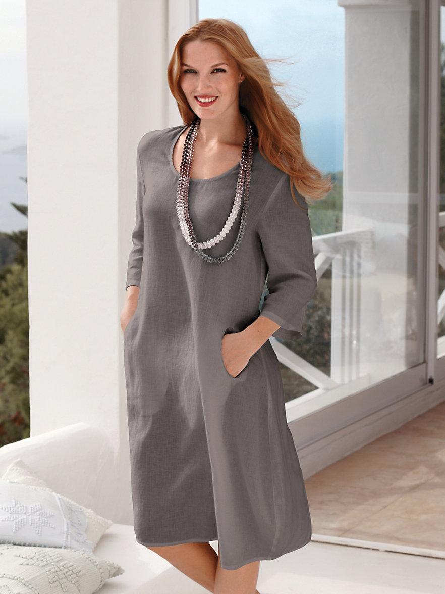 anna aura la robe en pur lin taupe. Black Bedroom Furniture Sets. Home Design Ideas