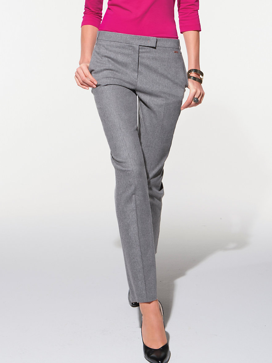escada sport le pantalon 7 8 gris clair chin. Black Bedroom Furniture Sets. Home Design Ideas