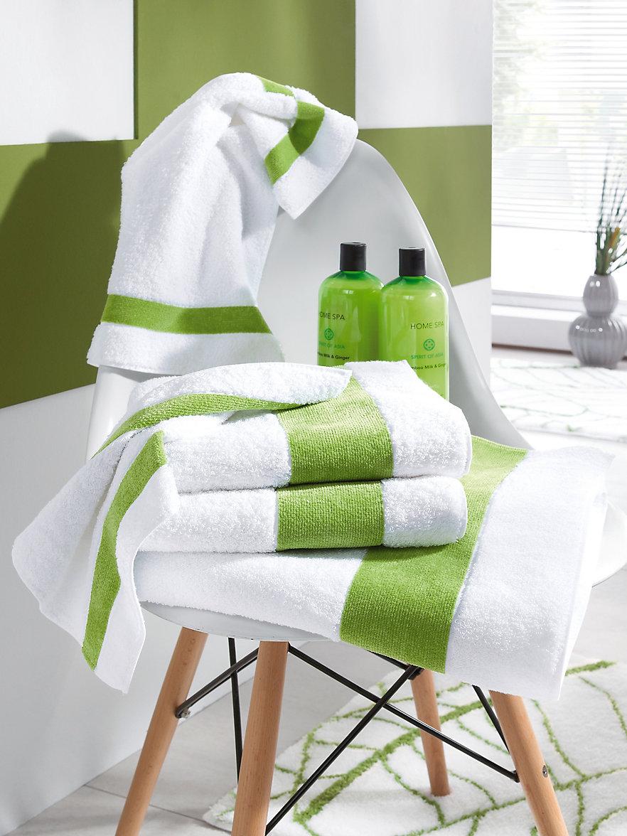 Feiler le carr de toilette en pur coton kiwi for Toilette carrele