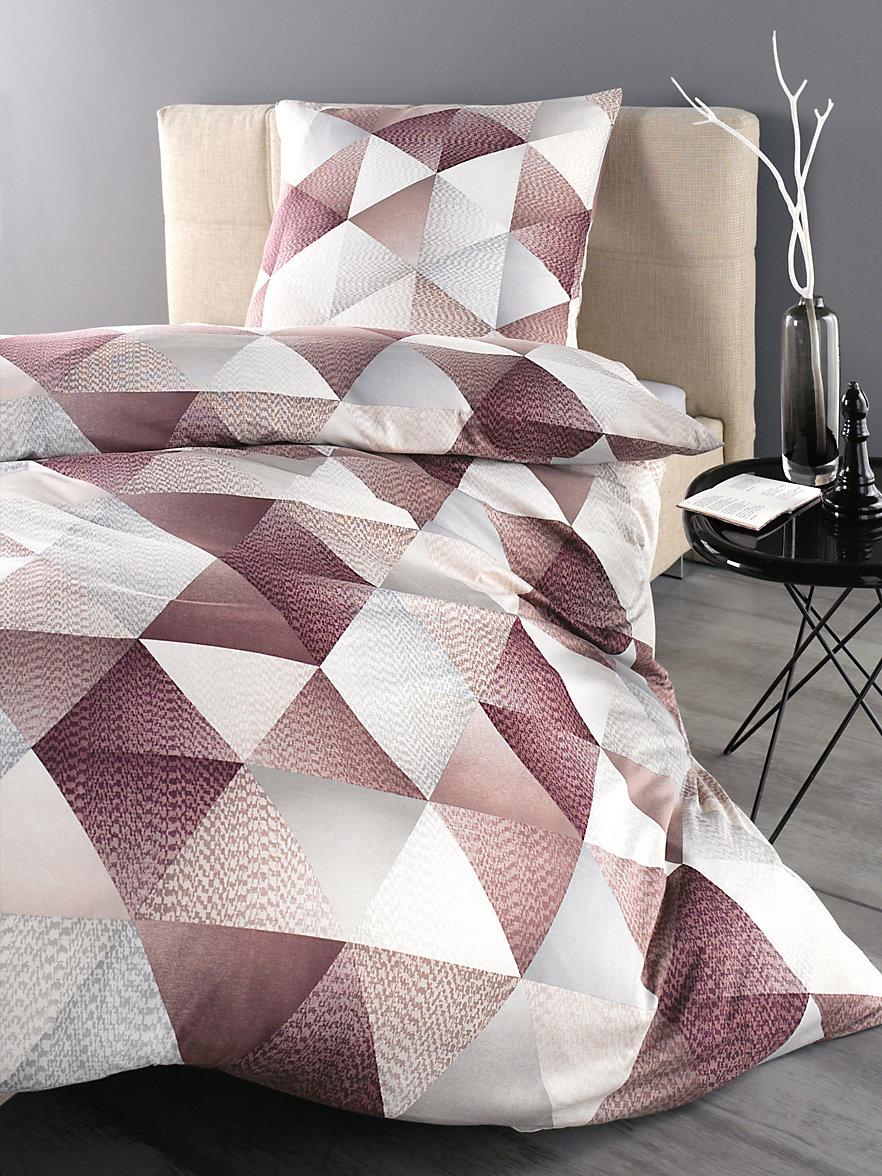 irisette la parure de lit 2 pi ces env 135x200 cm beige aubergine. Black Bedroom Furniture Sets. Home Design Ideas