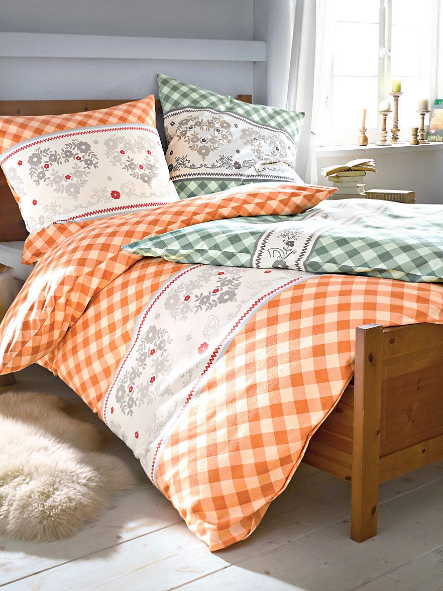 irisette la parure de lit 2 pi ces env 135x200 cm orange. Black Bedroom Furniture Sets. Home Design Ideas