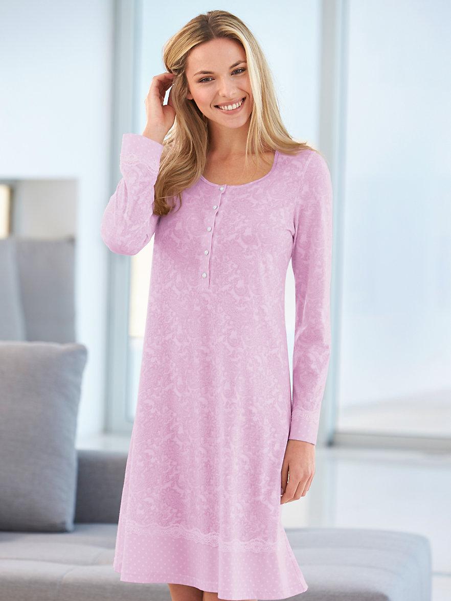 la plus belle la chemise de nuit rose blanc. Black Bedroom Furniture Sets. Home Design Ideas