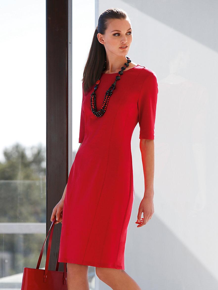 peter hahn la robe en jersey rouge. Black Bedroom Furniture Sets. Home Design Ideas