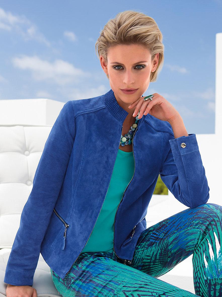 veste de tailleur femme bleu roi v tements l gants modernes. Black Bedroom Furniture Sets. Home Design Ideas