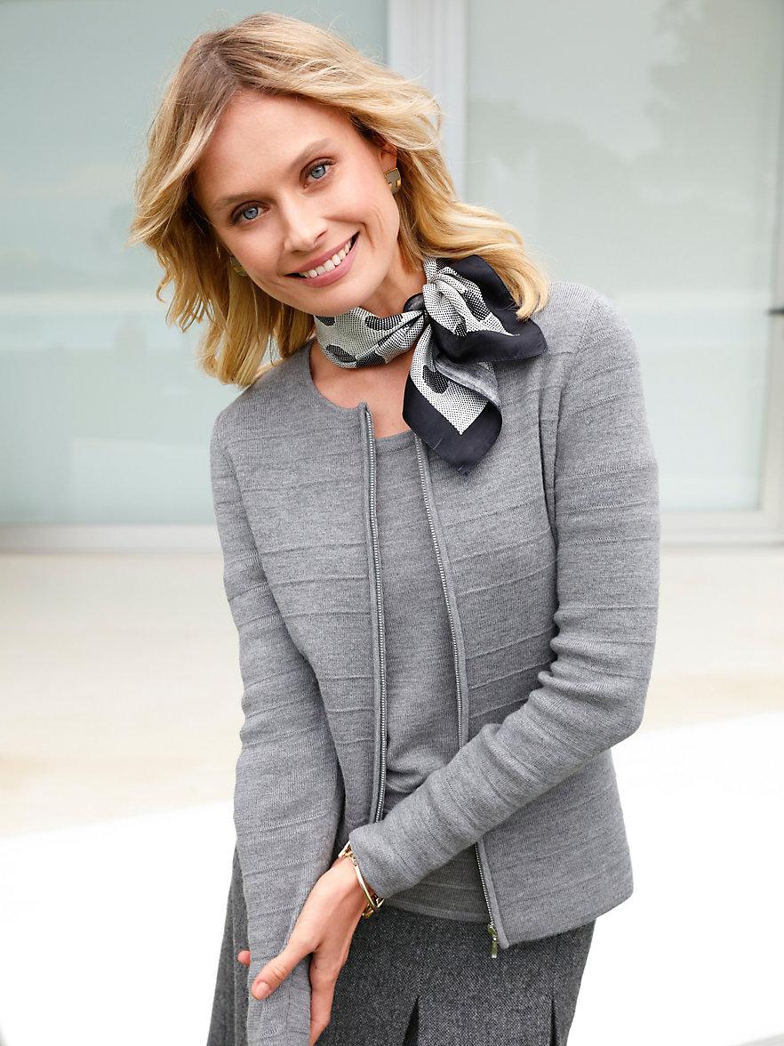 cardigan femme pure laine vierge gray cardigan sweater. Black Bedroom Furniture Sets. Home Design Ideas