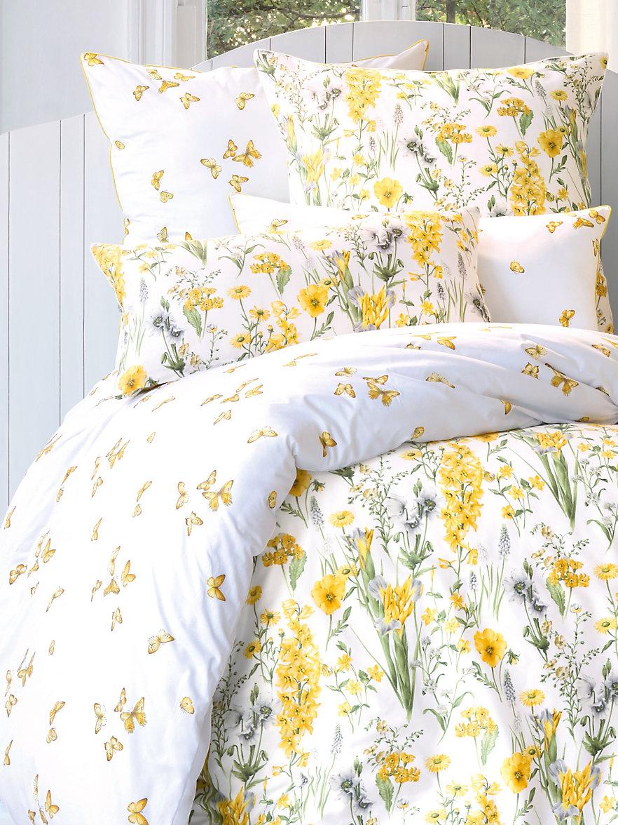 pfeiler la taie d 39 oreiller env 40x80cm blanc jaune. Black Bedroom Furniture Sets. Home Design Ideas