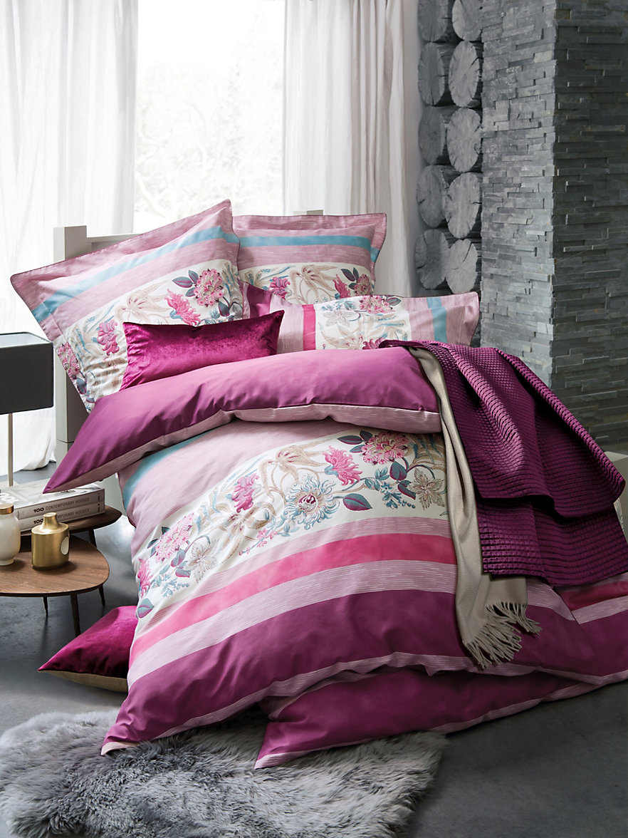 yves delorme la housse de couette 135x200cm fuchsia multicolore. Black Bedroom Furniture Sets. Home Design Ideas