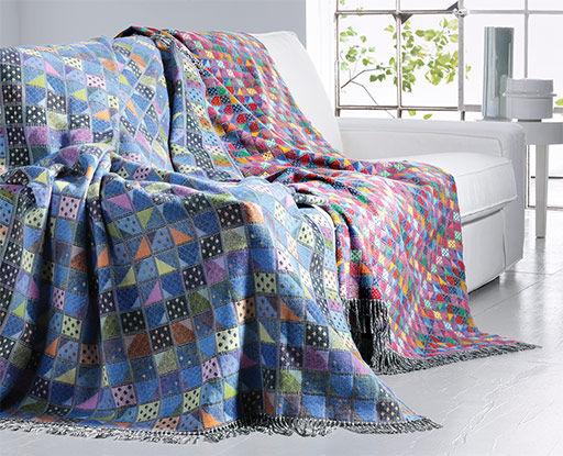 maison couvertures et plaids