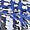 bleu glacier/multicolore