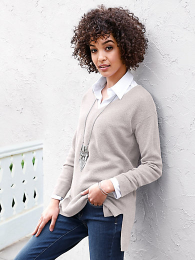 Peter Hahn - Le pull en pure laine vierge, col V