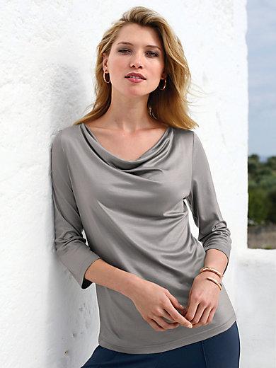 Uta Raasch - Le T-shirt à manches 3/4 encolure bénitier