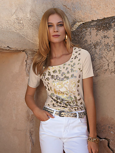 Uta Raasch - Le T-shirt à paillettes à manches courtes